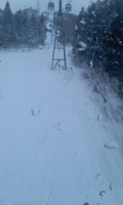 かぐらは少し雪
